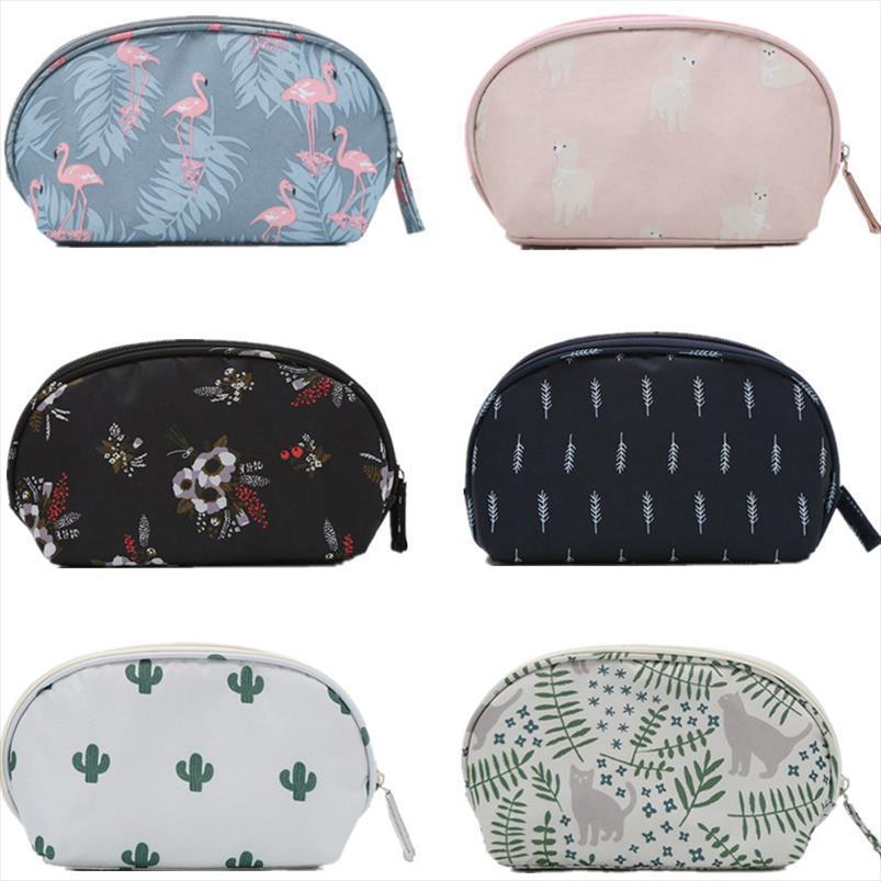 Para mujer pequeña bolsa de cosméticos señora Mini Marca linda bolsa hasta casos de la vanidad viaje del lápiz labial del maquillaje organizador de belleza Higiene accesorios
