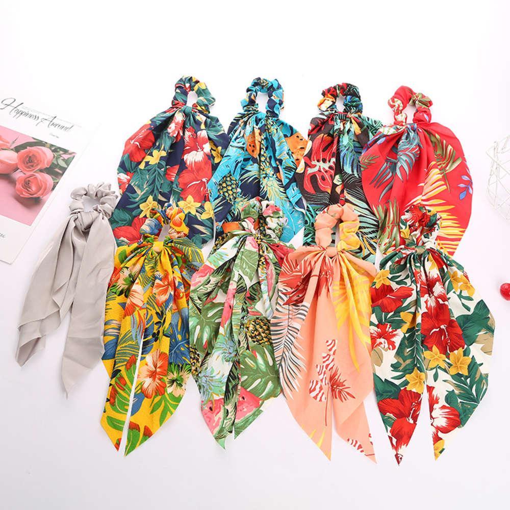 Écharpe en soie imprimée Rubbon Porte de cheveu