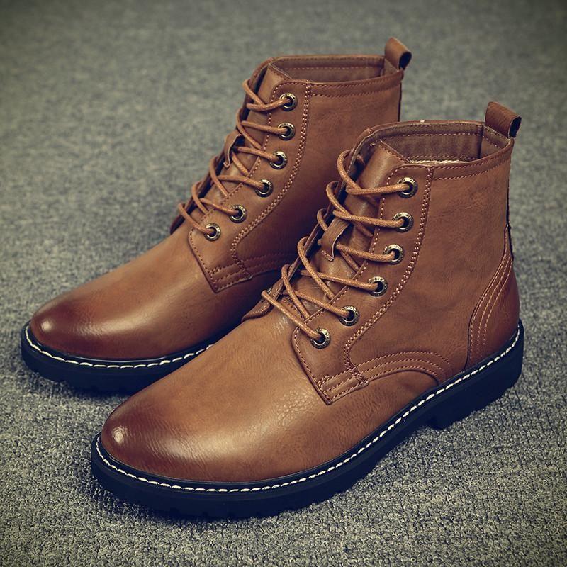 CIMIM العلامة التجارية في فصل الشتاء الرجال الجلود أحذية الموضة الجديدة اللباس بولوك سنو رجال أحذية فاخرة مريحة عارضة مارتن