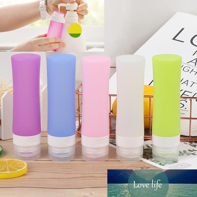 1шт силикона многоразовая Мини Путешественник Упаковка бутылки Пресс бутылки для лосьон шампунь для ванны Контейнеры многоразового силикона