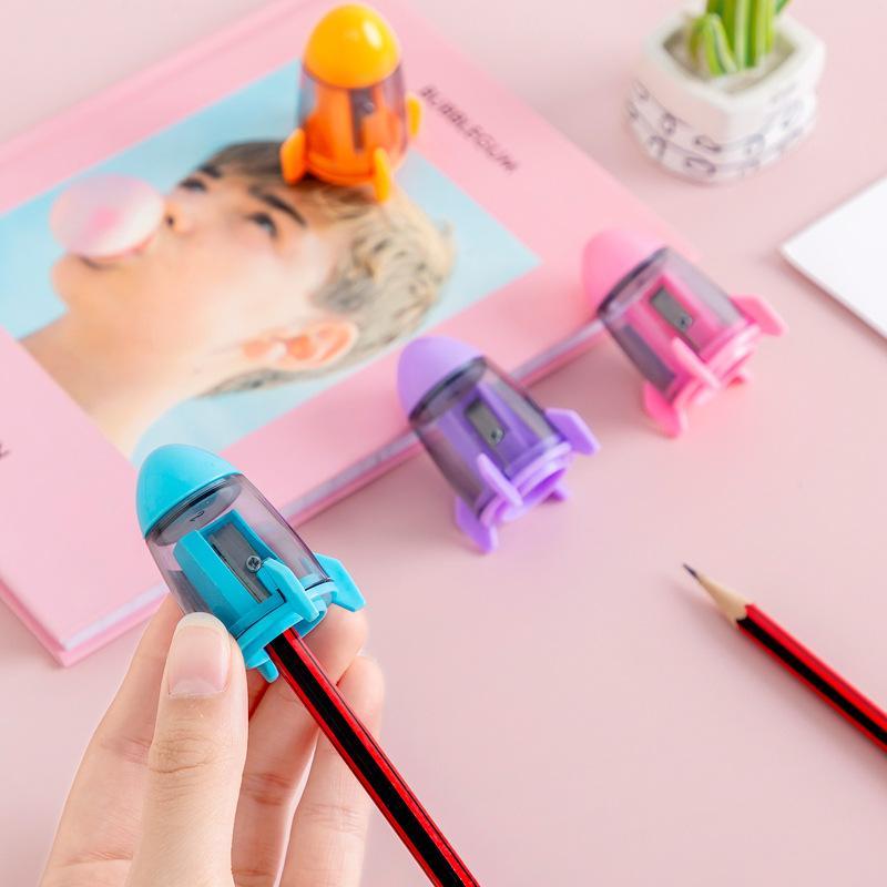크리 에이 티브 로켓 모델 싱글 홀 연필 깎이 연필 깎이 연필 깎이 학생 문구 선물 시상