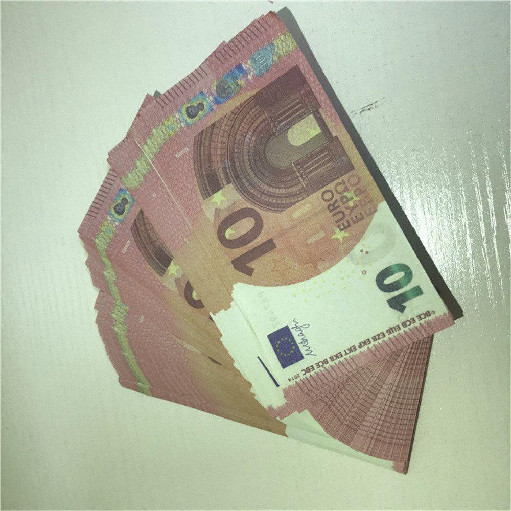 Bambini Euro Pound FAUX PROP PROPPS DOBLIGANO BILLET DOBBLIGANO DOBBLIGANO BACK BIGHT LE10-41 Giocattolo Valuta Soldi LapFo SMVVA