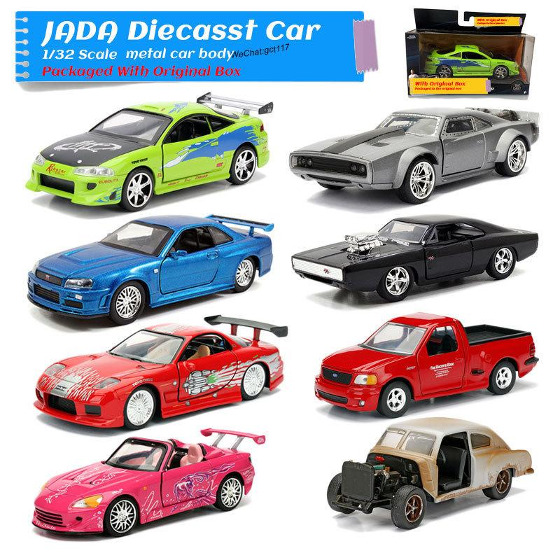 S2000, Mitsubishi JADA 1/32 Ölçekli Plymouth GTX, TOYOTA SUPRA, Nissan R34, Şarj Cihazı, HONDA Eclipse Döküm Metal Araba Model Oyuncak