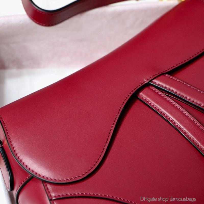 Bolsas para mujer Hoke Bolsos Saddle Monederos Pequeño Alto Rojo Porfeuille 7A Hombro Crossbody Custom Genuine HandTasche End Cuero Calidad SMTG