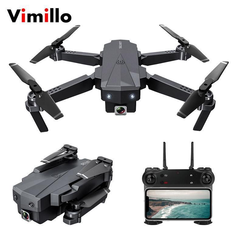 Vimillo SG107 Drone 4K HD Aerial оптического потока Пульт дистанционного управления Пролет Через мини Дрон Quadrocopter камеры Игрушки VS E58