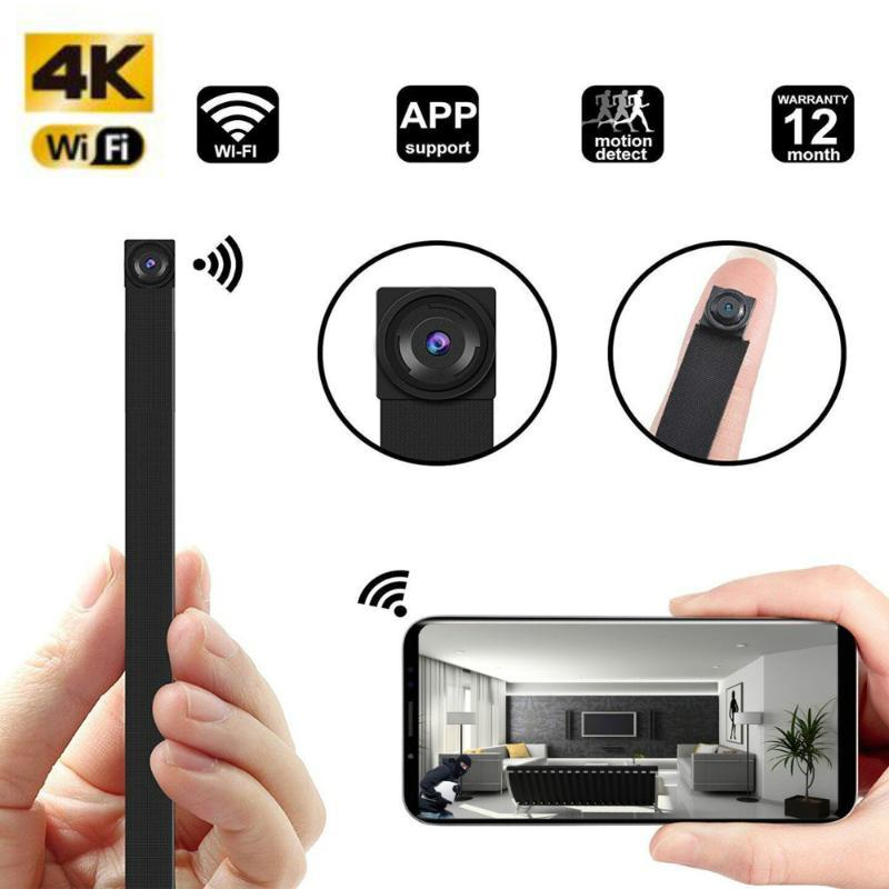 HD 4K DIY Portable WiFi IP Mini Camera P2P Wireless Micro Webcam Camcorder Video Recorder Night Vision Remote View support128g
