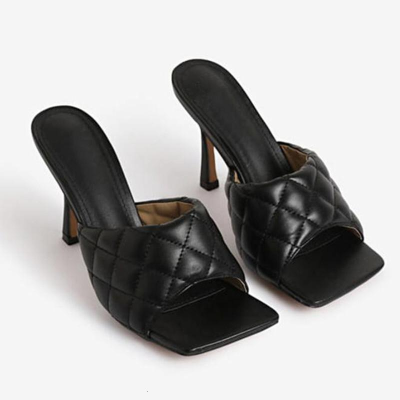 Fashion Sexy Heel Mulheres Sapatos Plus Size Chinelos 2021 Primavera New Stiletto Sandálias Romanas Mulheres Slides Btalon Femme CCN4