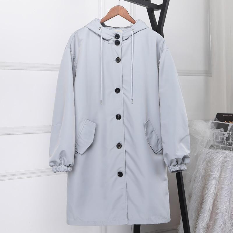 Large size XS-4XL Trench coat for Women female windbreaker Long coat Womens hooded loose Plus size Outwear Overcoat Women