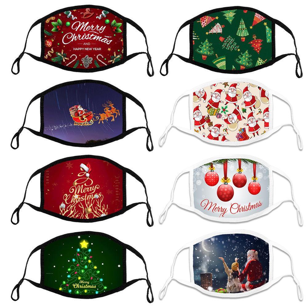 Natale di cotone maschera regolabile per l'orecchio corda del panno dei bambini maschera per adulti traspirante designer morbide personalizzabili elaborazione modello del fronte maschere