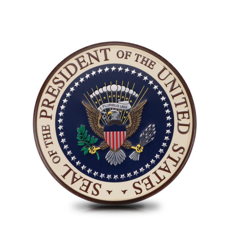 Autocollants Accessoires de voiture adaptés à Cadillac U.S. présidente Badge Personnalisé Métal Corps de décoration Côté Labelle