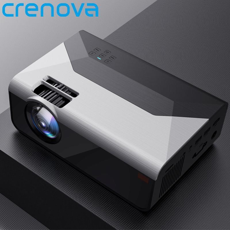 Crenova Mini Projetor G08 3000 Lumens (opcional Android G08C) WiFi Bluetooth para telefone Projetor Suporte 1080P 3D Home Filme