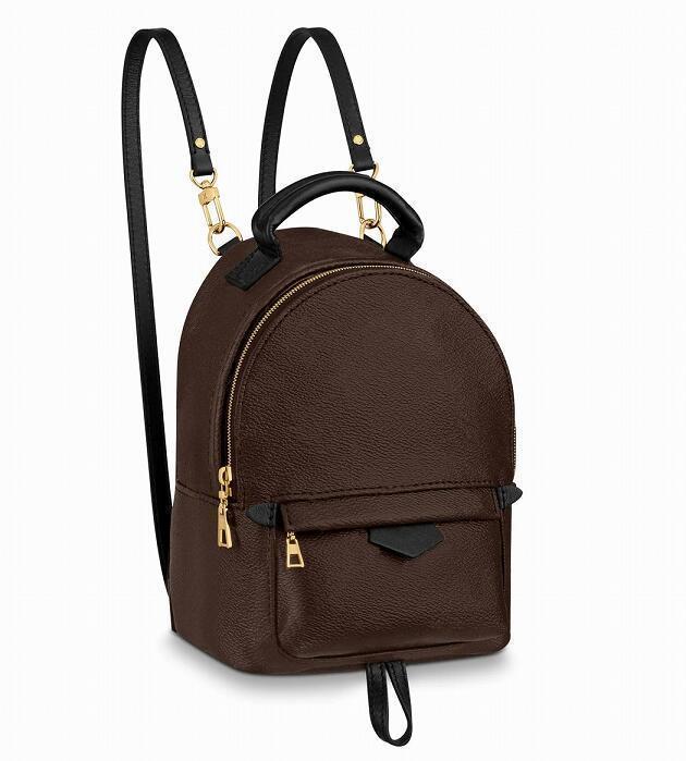 Bolsos de bolsos Diseñadores de cuero Springs Mini mochila Bolsas de palma de alta calidad Hombro Mujer Viajes Mensajero Ponente 2021 DNFVB