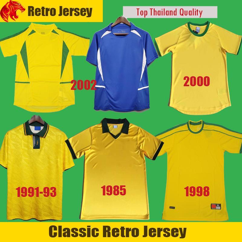 1994 1998 2000 2002 클래식 레트로 축구 유니폼 호나우두 리 라이비도 Ronaldinho 축구 셔츠 R.Carlos Bebeto Romario Camisa de Futebol
