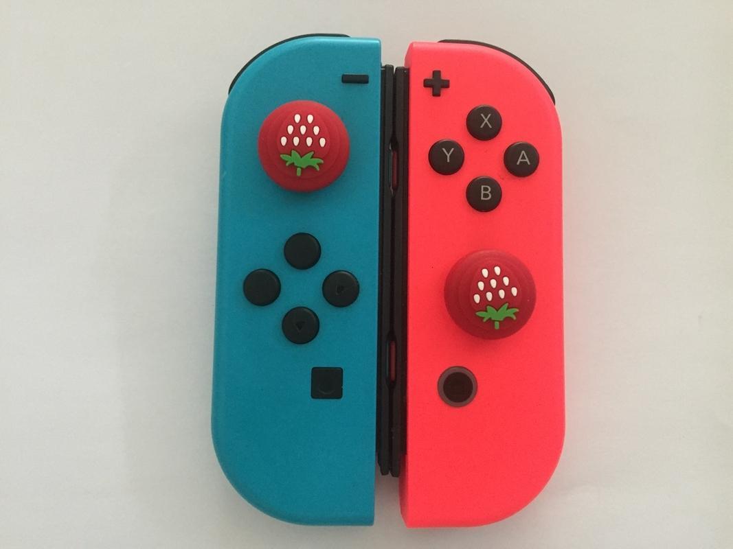 Controller 2020 Neue Erdbeere für Nintendo Silikonschaltkappe