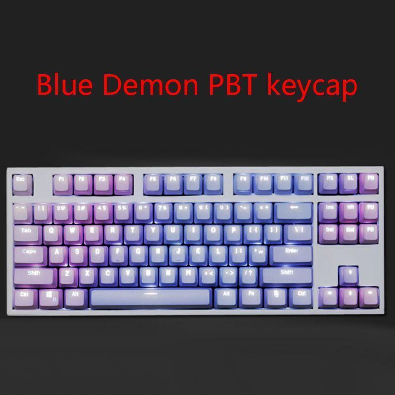 1 set Reemplazable PBT KEYCAPS 87 104 108 TECLAS DE LIMPIONES TRANSPORTADAS DOBLE Tiro Inyección Backli Key Cap para el teclado mecánico