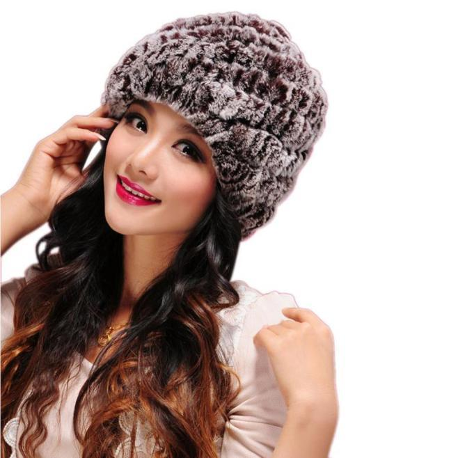 Yeni Tasarım Kış Kadın Patchwork Kürk Şapka El Yapımı Sıcak Kapaklar Kadın Headgear Rahat Açık Şapka Moda Aksesuarları