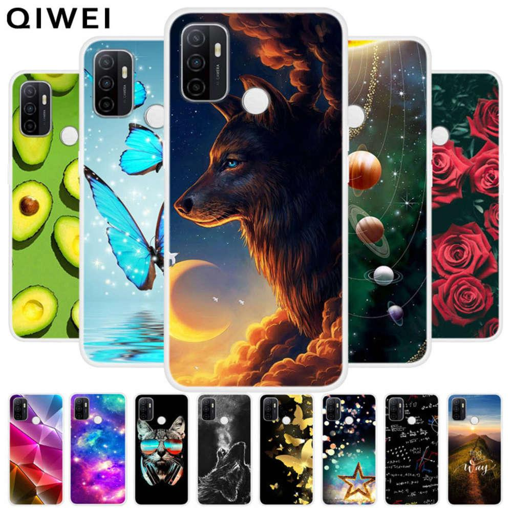 Case Slim Soft TPU TPU Silicone Housse arrière OPPO A53S 2020 A 53S Coques A53 S Coques clairs pour OPPOA53