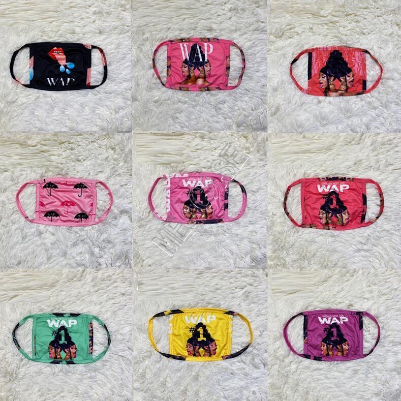 Neue Designer Face Frauen WAP Brief gedruckt Partei Masken Maske Staubdichtes Schutzabdeckungen Mouth-Muffel waschbar Milch-Seide Stoff Masken D102303