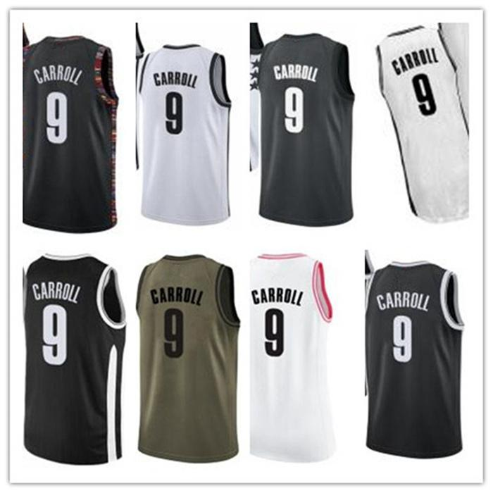 Custom 2020 Net Style Jerseys Blanc Blanc Green Green Army Army Green 9 DemarreJersey de Basketball Carroll