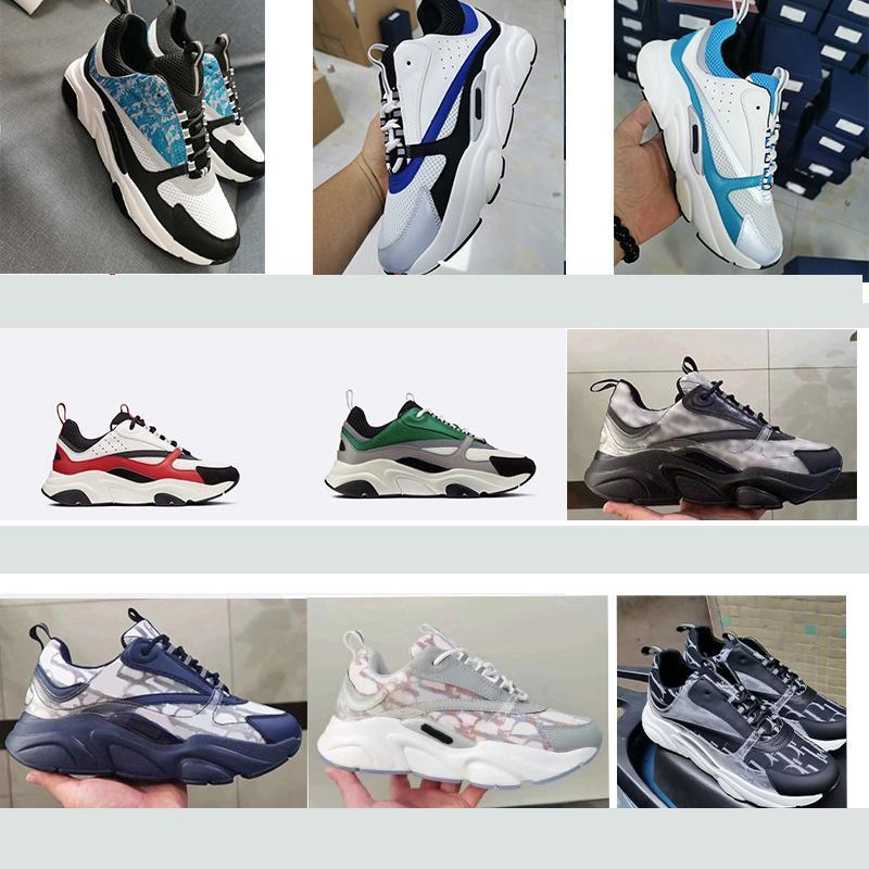 luxurys designer b22 sneaker tela di canapa in pelle di vitello Sneaker tecnica Knit Scarpe Uomo Donne piatto Trainer vera pelle piattaforma Sneakers con box