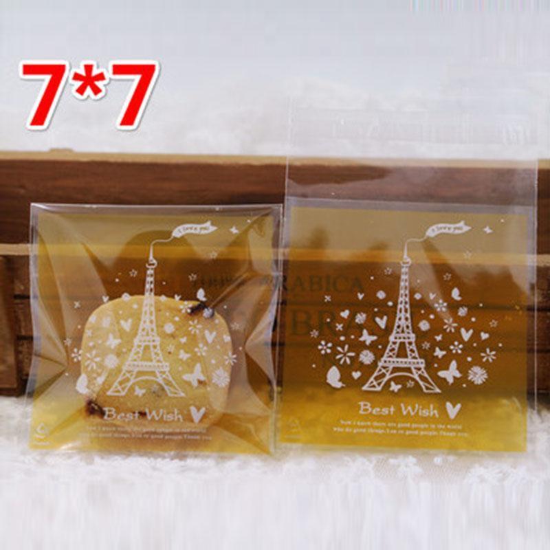 Подарочная упаковка 100 шт. / Лот Печенье Сумка Желтая матовая башня Бабочка ручной работы закуски конфеты упаковки пакеты вечеринка Nougat обертка