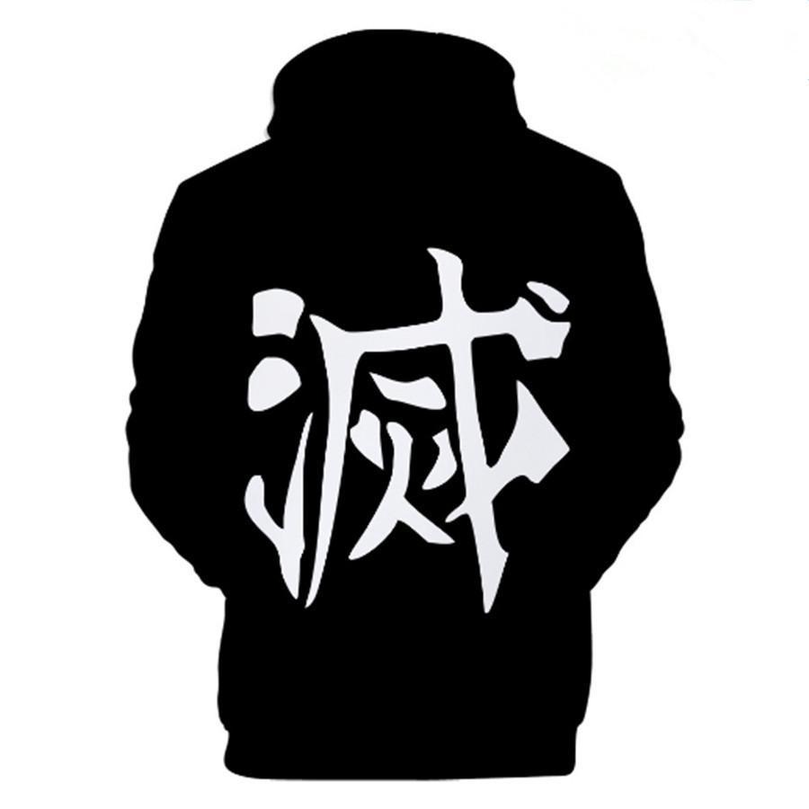 Толстовка аниме с капюшоном Demon Slayer Kimetsu No Yaiba Cosplay Costume Unisex Куртка 3D Print X1021
