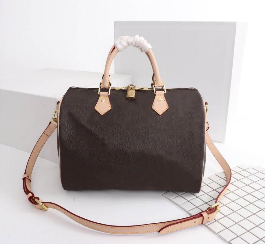 2020 Fashion 100% Genuine Pelle Pelle Speedy Borsa TOTE MEDIA 25/30 / 35 cm Borsa a tracolla Classic Canvas Shopping Bag Bag da viaggio Borsa da viaggio 40391