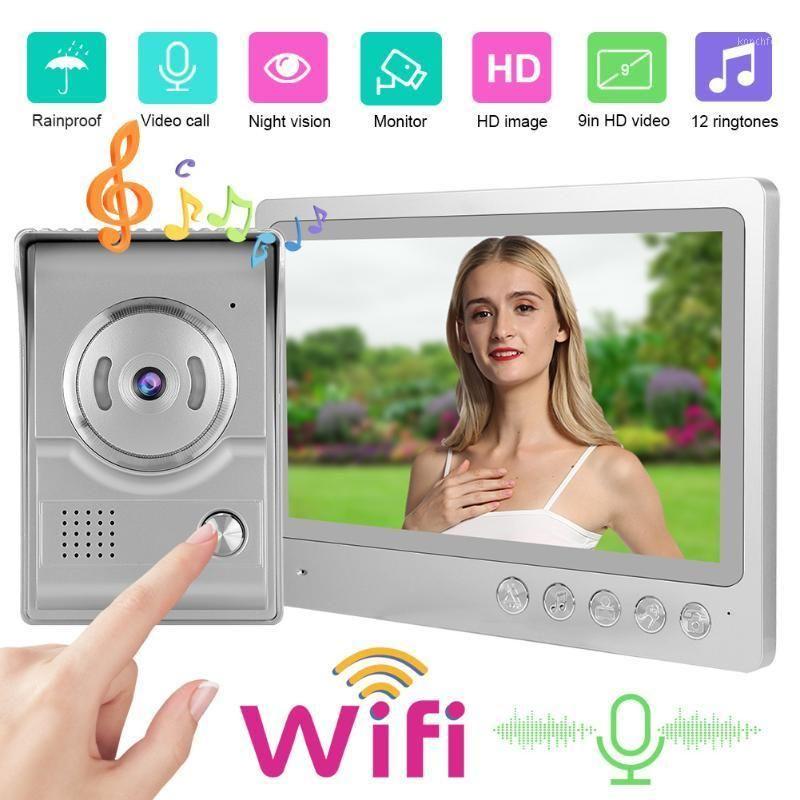 9 inç Akıllı WiFi Video Interkom Kapı Zili IP65 Su Geçirmez Gece Görüş Fotoğraf Çekim Kayıt Giriş Sistemi 100-240v1
