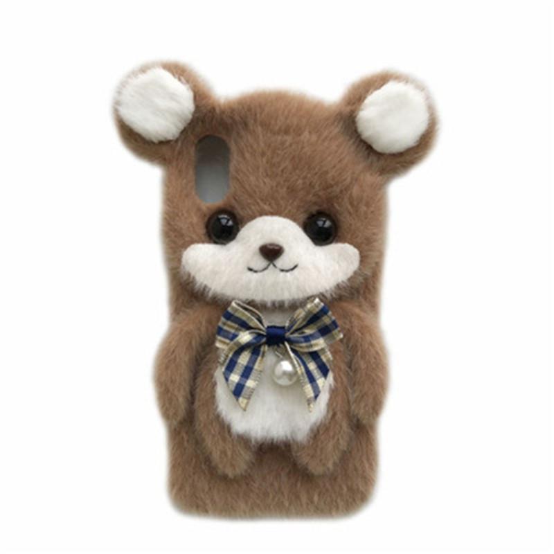 Para Apple iPhone 12 mini-11 Pro XS Max XR X 8 7 Plus Comfort Telefone Padrão Urso Tampa traseira do caso Inverno Capa