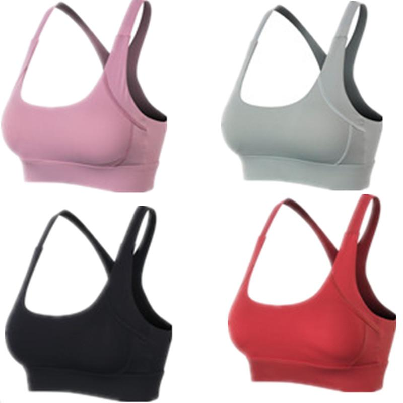 Fitness lu Yoga Push Up Sports Bra for Womens Gym Running Padded Tank Top Athletic Vest Underwear Shockproof Strappy Sports Bra Top
