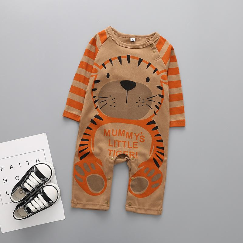 Baby Clothing New Newborn jumpsuits Baby Boy Girl Romper Clothes Long Sleeve Infant Product Panda printing 1 3 9 12 months 201029