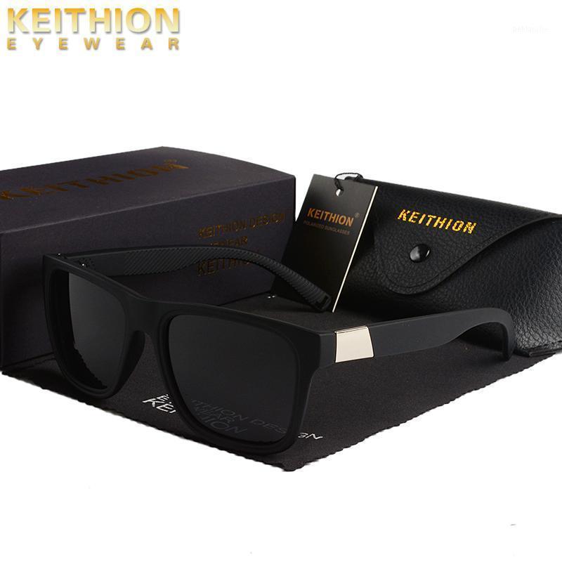 Keithion Luxus Sonnenbrille Männer Polarisierte Mode Design Quadratisch Plastik Sonnenbrille Spiegel Fahrern Sonnenbrille Oculos UV4001