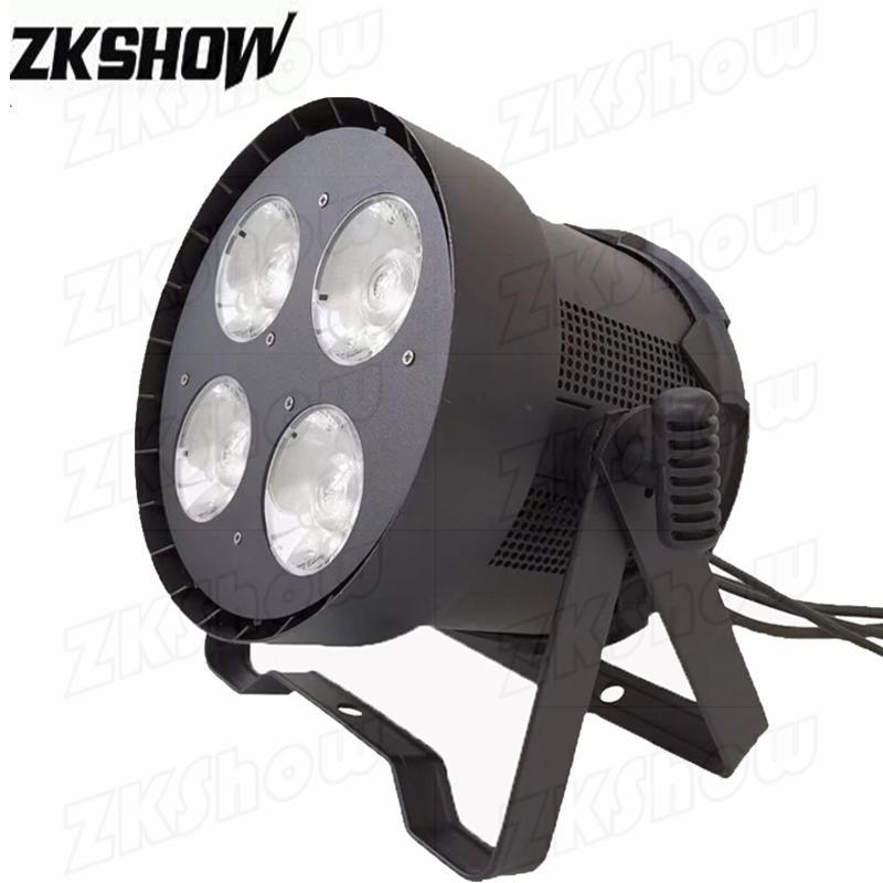 80% скидка 4 * 50W LED COB Blinder Par Light 2в1 Белый / Полноцветная для DJ Disco Party Свадьба Ночной клуб Event Pro Stage осветительное оборудование