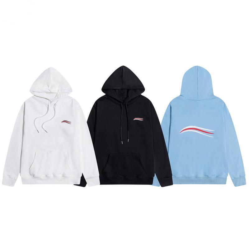 2021 мужской и женский свитер повседневная мода пуловер с капюшоном роскошь черный белый синий M-2XL