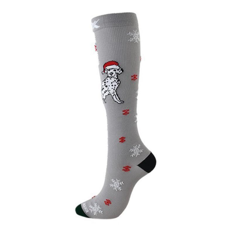 Sport Natale calzini nuovo adulto Compression Socks Unisex Natale divertente per le donne di Santa Calze ciclismo Sock