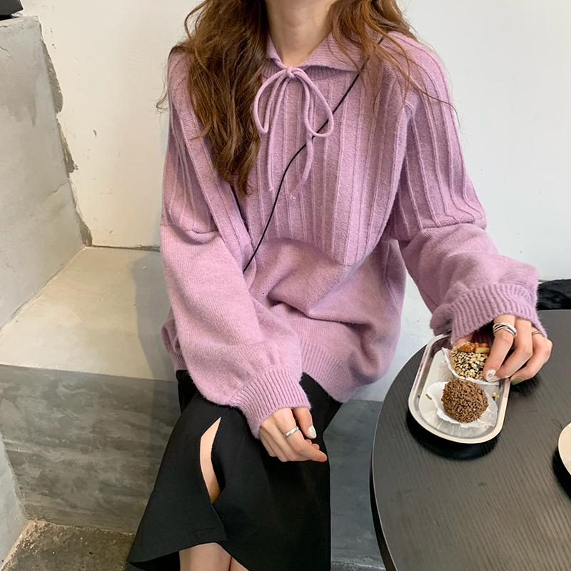 2021 New 2 colours Autumn winter sweaters and loose sweet women's knitted shirt (c9325) SC66