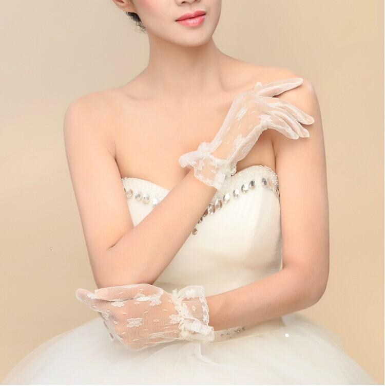 Белая перчатка короткий специальный тюль свадебные цена красивая свадьба невеста также для женщин официальные перчатки выпускных перчаток