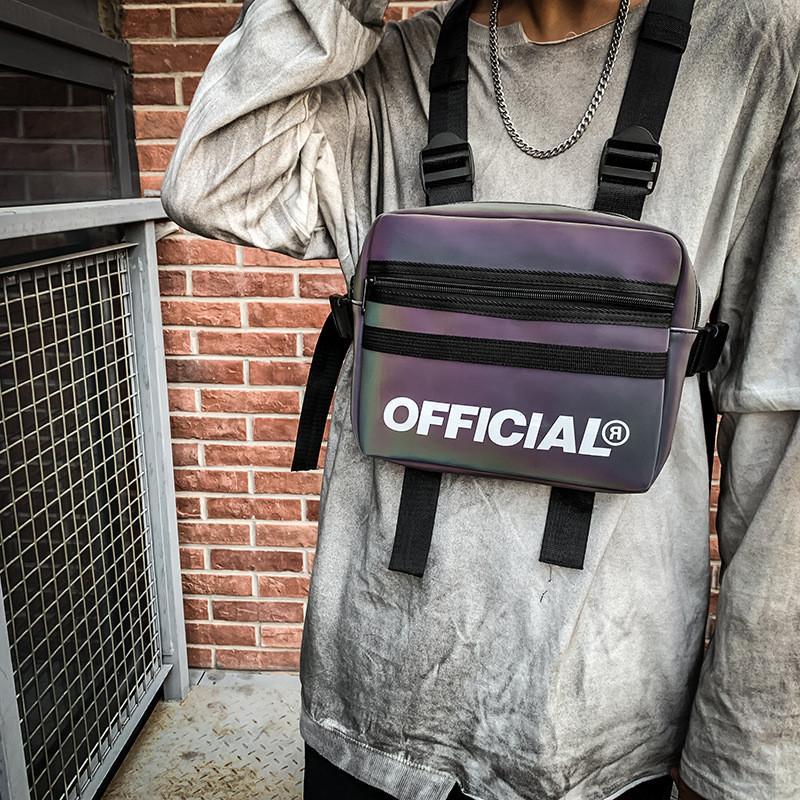 Trendy Kühle Tooling Chest Tasche Männer und Frauen Taillen-Beutel-beiläufige Hip-Hop-Straße Tactical Reflective Bunte Weste Tasche New