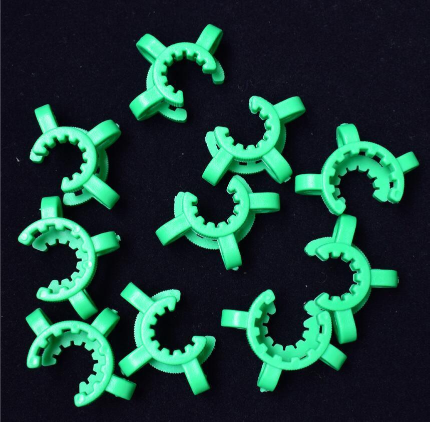 Qualidade Bom 14mm 19mm Plástico Keck Clip Laboratório Laboratório Grampo Plástico Fechadura Vidro Adaptador Do Downstem Para Nectar Collector Vidro Bong