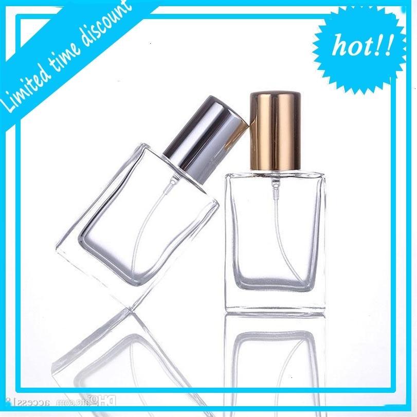 300 unids / lote 30 ml de cristal transparente Botellas de perfume Atomizador Atomizador Atomizador Funda de olor a spray con tamaño de viaje Portátil