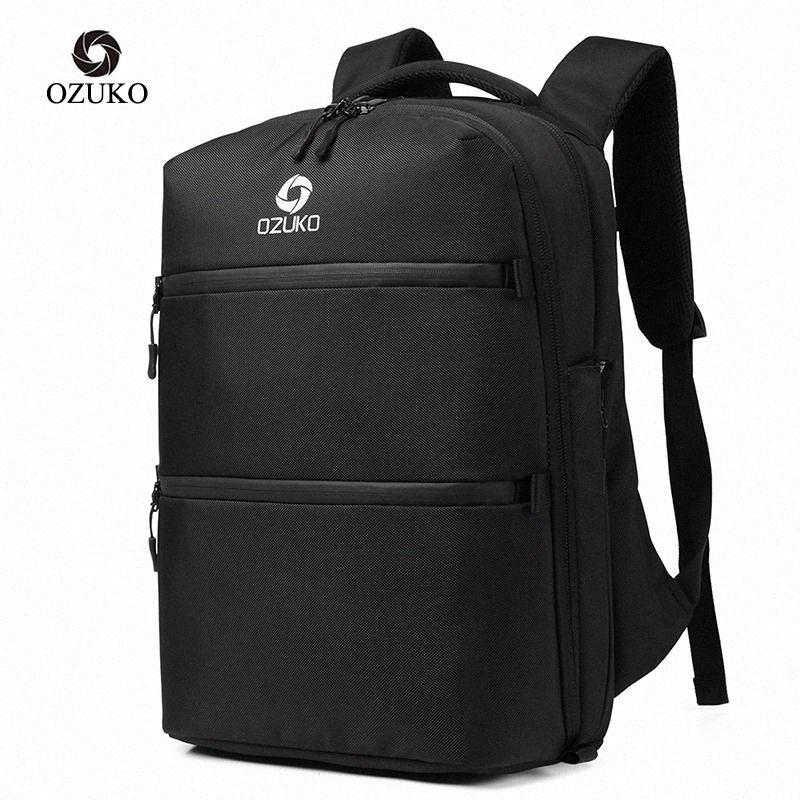 Carga Casual Impermeable Phirp Pulp Bag New Anti-ladrón Mochilas para hombre USB 2020 Mochila Multifunción Marca de viaje Ozuko 15.6 # jw5o veklc