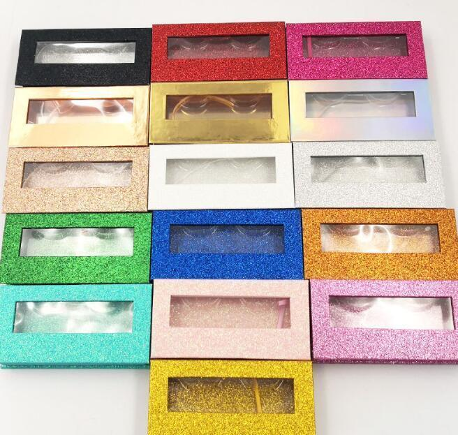 21 colores Calidad al por mayor cuadrado Falso Pestañas Packaging Box Fake 3D Mink Pestañas Cajas Faux Cils Magnetic SQCugv DH_Seller2010