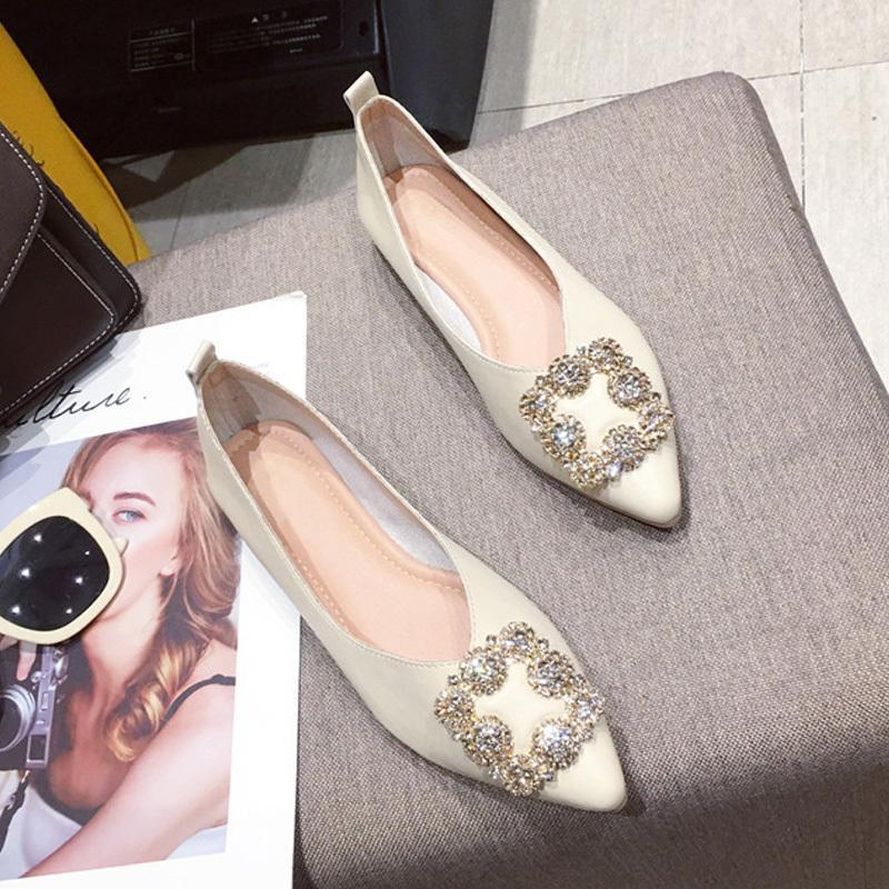 패션 아파트 여성용 보트 신발 브랜드 숙녀 아파트 고품질 여성 단일 신발 A1927 C1114