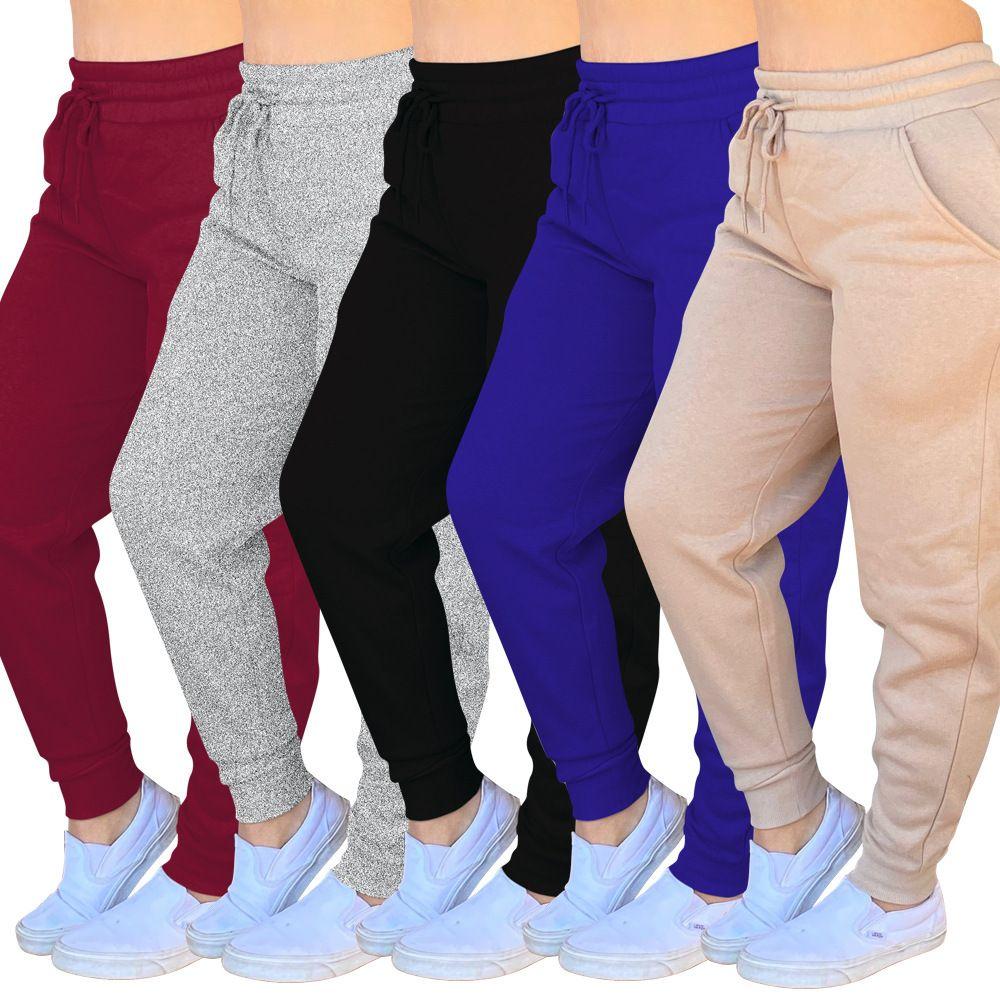 İki ile Kadınlar Pantolon Günlük Spor Pantolon Düz Parça Koşu Pantolon Hop Gevşek Pamuk Sweatpants Koşucular Streetwear Clothes 2020 Cepler