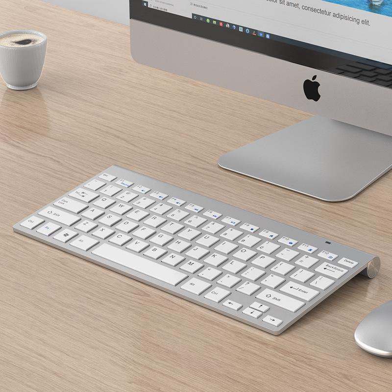 Ultra-mince 2.4G mini clavier et souris sans fil pour les pieds Scissor Chocolate Mute Windows Linux