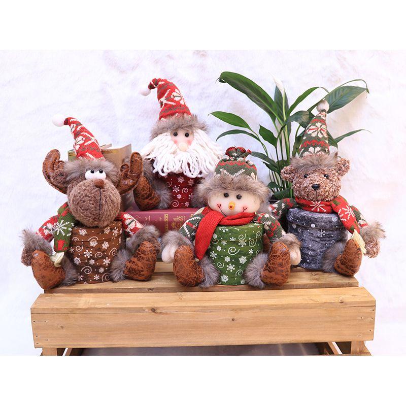 Новогоднее украшение кукла творческого подарка коробка дети Рождественский подарок мешок конфета коробка рождественские украшения Dropshipping F8901