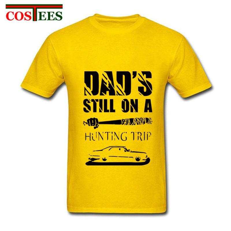 shirt da forma Negan John Winchester caça viagem Artista manga curta personalizado Família Supernatural TV Show Dad presente moletom com capuz Hoodie homens t