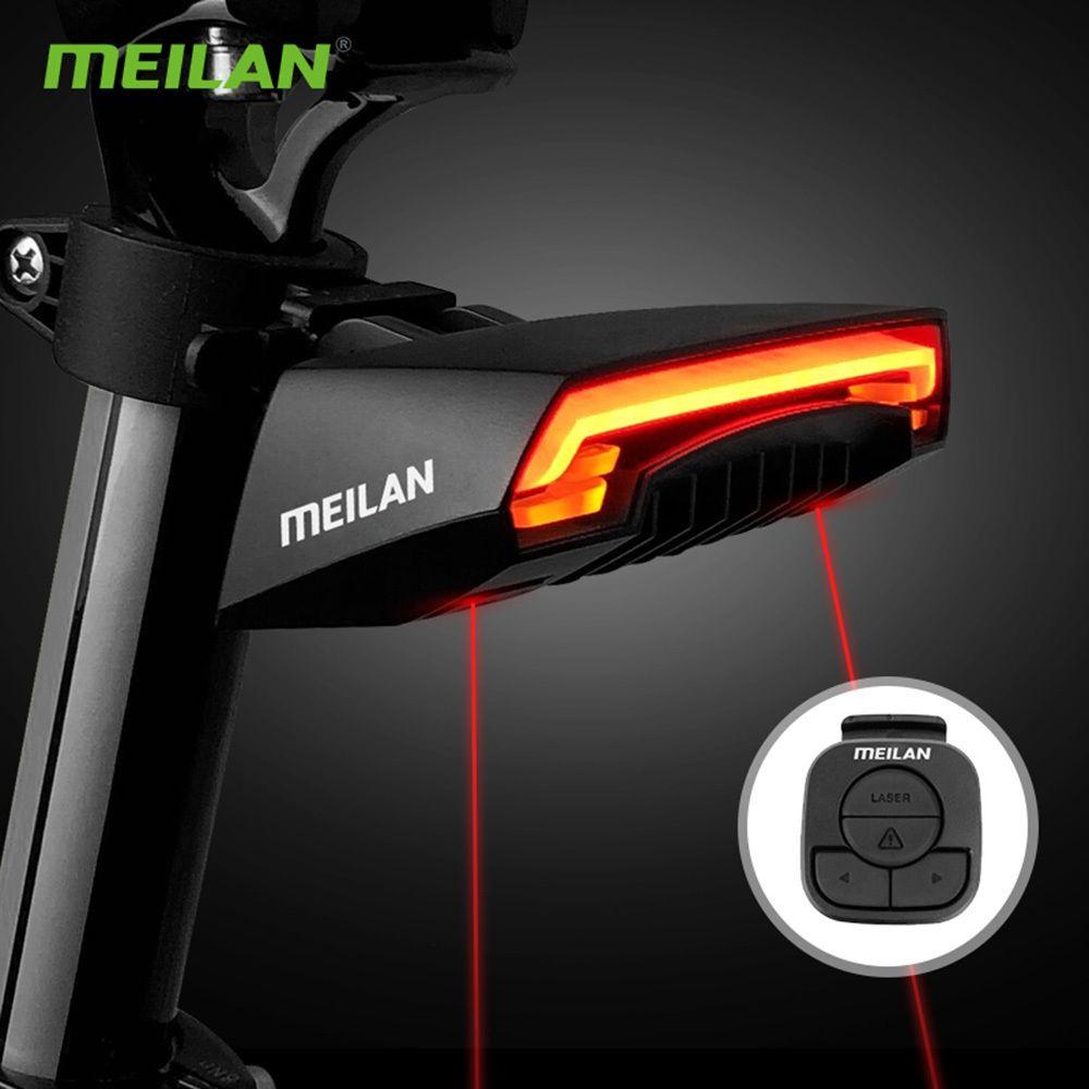 Meilan X5 دراجة ضوء لاسلكي usb تحميل الضوء فلاش ضوء mtb دراجة مصباح للماء ركوب الدراجات تحذير الذيل الخلفية ضوء 201029