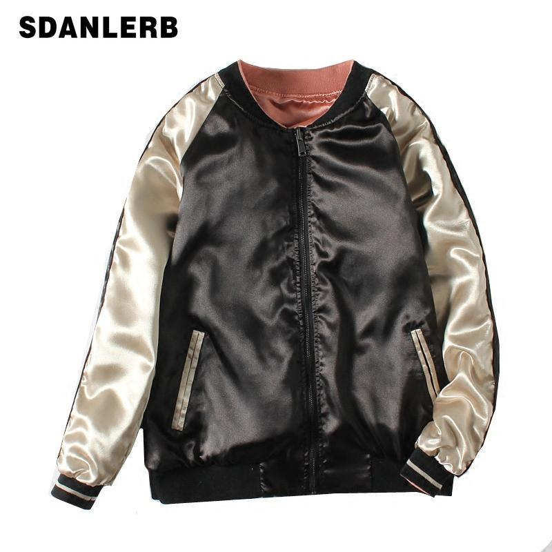 Ins Super Hot on Both Sides Wearing Embroidery Baseball Coat Women 2020 Spring New Loose Korean Short Jacket Harajuku Jackets