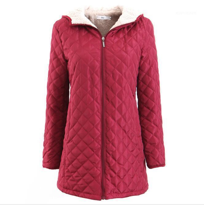 Yeni 2019 bayanlar ceket kış ceket ile kap kalın pamuk sıcak bayanlar ceket moda orta pamuk ceket büyük boy1